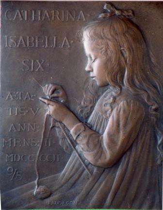 Catharina Isabella Six - brons