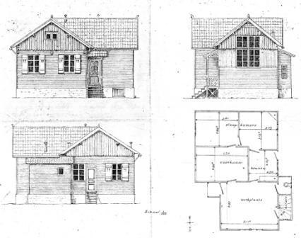 tekening huis Bourg-la-Reine
